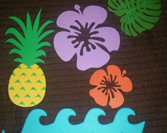Tropical Luau Photo Cut out Props Ready to Ship