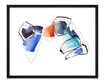 Colorful Watercolor Art Print - Watercolor Abstract Print - Watercolor Painting - Watercolor Poster - Art Prints