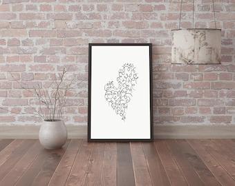Digital image -  heart