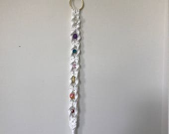 Glass/Crystal Macrame Chakra Bell Pull/Wall Decor