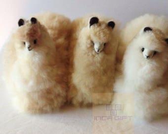 Handmade Alpaca Stuffed Animal Plush Alpaca 11 IN/ Llama fur teddy alpaca handmade Peruvian alpaca fur stuffed animal toy