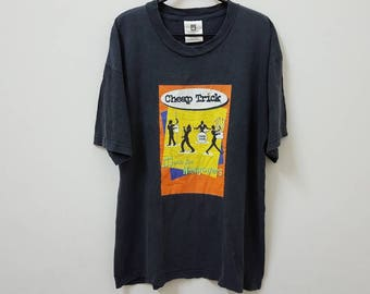 Vintage 90s CHEAP TRICK music for hangovers promo tour t-shirt