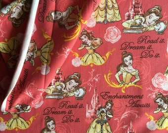 Beauty and The Beast Knit, Enchantment Awaits, Knit, by the yard, Knit Fabric, Disney Knit, TheFabricEdge