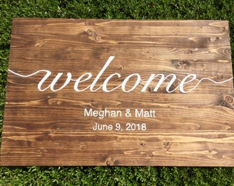 Wedding Wood Welcome Sign