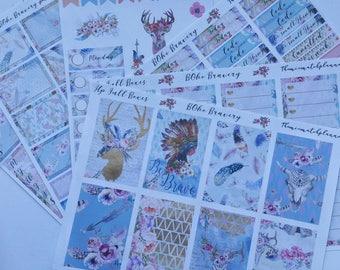 Happy planner full kit, Boho Bravery,custom sheet kit planner stickers,classic happy planner size,size kit
