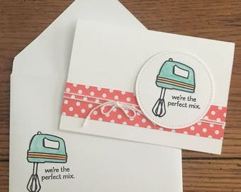 Blank Kitchen Utensil Themed Note Cards (Set of 4)