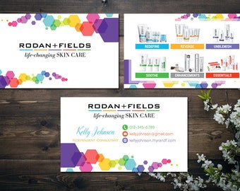 PERSONALIZED Rodan and Fields Business Cards, Fast Personalized, Rodan + Fields Independent Consultant, Modern Business Cards RF17