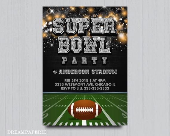 Superbowl party invitation Superbowl football invitation
