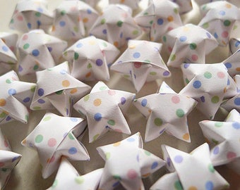 Pastel Dots Origami Stars - Wishing Stars,Home Decor,Party Supply,Embellishment