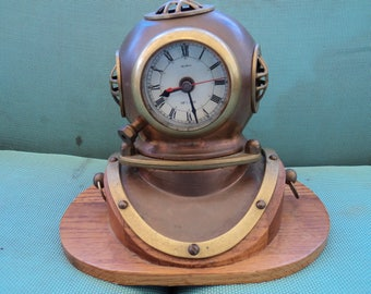 Mark V Divers Helmet Clock