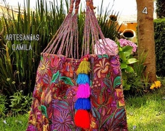 Unique embroidered handbag