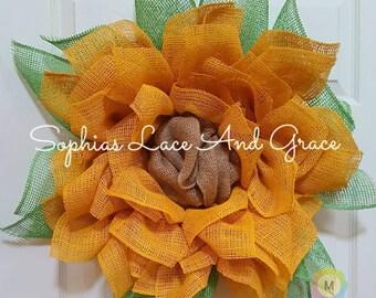 Beautiful Burlap Sunflower Wreath
