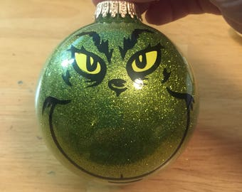 The Grinch  glass ornament