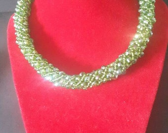 Green African beads