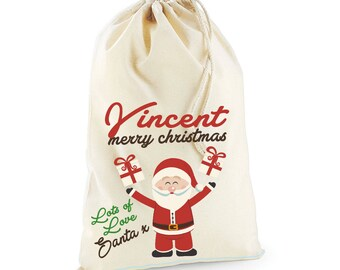 North Pole Post Office Christmas Day Personalised Custom Delivery Sack Kids Boys Girls 08