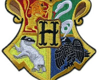 Harry Potter Hogwarts House Crests Sew On or Iron On 3.5 Inch Application Applique Patch- FREE DOMESTIC SHIPPING