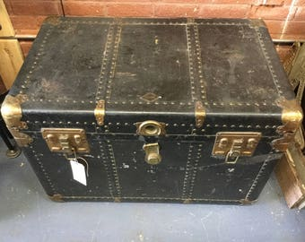 Modern Company  Flat Top Steamer Trunk