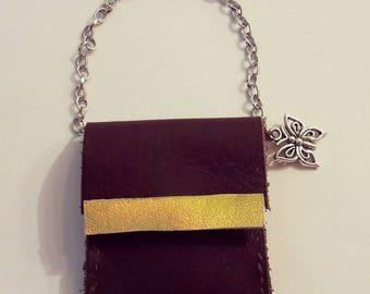 Wonderful Leather and Metal Bag for Neo Blythe. Handmade