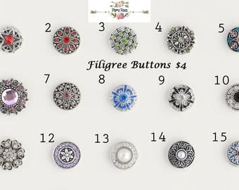 Filigree Buttons