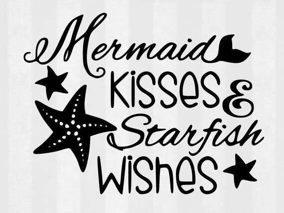 Mermaid Kisses SVG Bundle Mermaid clipart Mermaid cut files