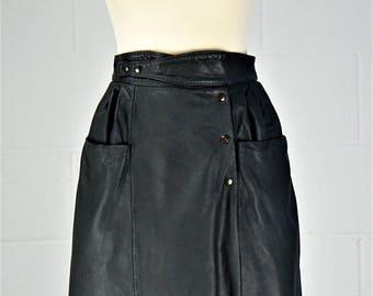 Vintage Leather 80's Skirt