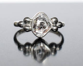 Herkimer Diamond Ring in Sterling SIlver