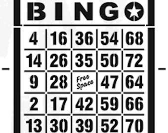 Funky Junk Stencil - Bingo Card - Furniture or Wall Stencil