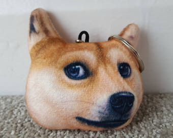 Dog face keyring