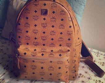MCM Stark Cognac Large backpack NEW!!!