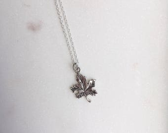 Autumn Leaf Necklace, Leaf Necklace, Oak Leaf Necklace, Leaf Jewellery
