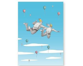 Birthday Card Skydiving – Freefalling