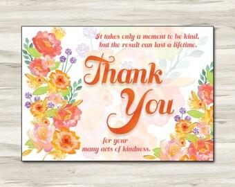 3.5x5 thank you card, editable template card
