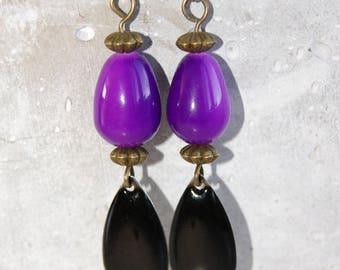 beads and sequin Bohemian earrings