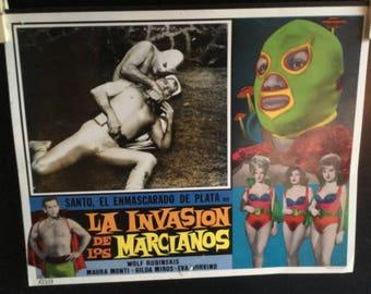 Set of 7 Lobby Cards la invasion de los marcianos Director Alfredo B Crevenna 1967