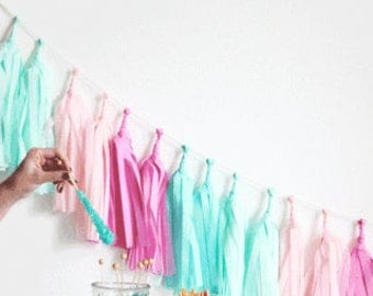 Tissue Paper Tassel Garland Kit- Candy Shoppe