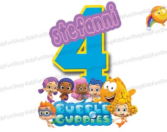 Bubble Guppies Iron On Tranfer, Bubble Guppies Shirt Iron On, Bubble Guppies Personalized Iron On Transfer,Birthday Party Shirt,DIGITAL FILE