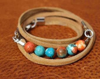 Sahara Jade Wrap Bracelet
