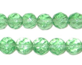10mm Light Green AB Finish Round Fire Polish Glass Bead