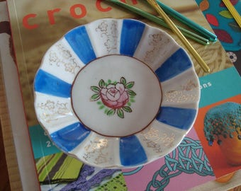 Vintage Hand Painted Trinket Dish - Made in Japan