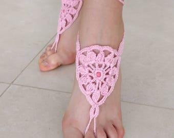 Bare Foot sandals crochet barefoot Sandals