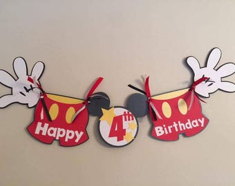 Mickey Mouse Birthday banner..mickey mouse banner..mickey mouse party banner..mickey mouse decorations..mickey banner