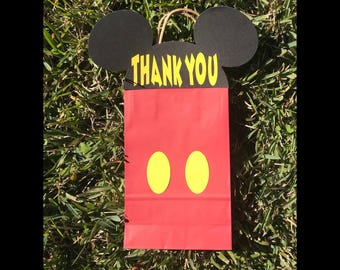Mickey Mouse party favors, Mickey Mouse birthday decoration, Mickey Mouse goodie bags, Mickey Mouse party, set of 12