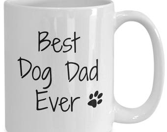 best dog dad ever coffee tea mug funny humor rescue doggy