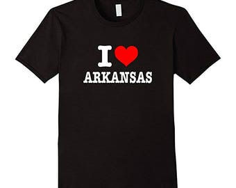 I Love Arkansas T-Shirt - Cute I Heart Arkansas AR State Shirt