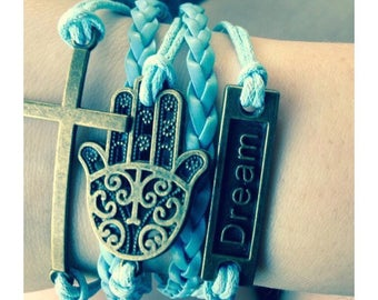 Beautiful blue charm bracelet!