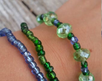 grass and sky bracelet