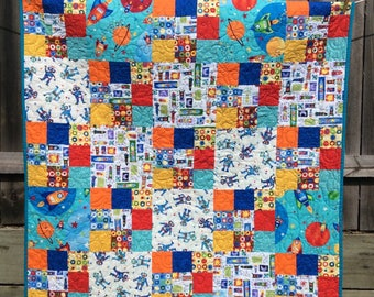 Handmade baby/ toddler cot quilt
