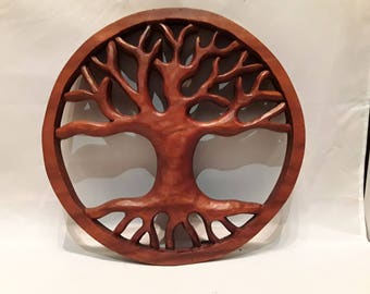 Tree of life,wooden tree,hand carved tree,