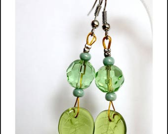 Earrings green spring summer