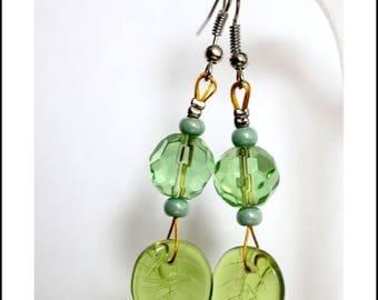 Earrings green spring summer